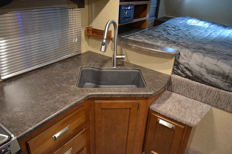 Lance 995 new faucet and sinks with MDF countertops