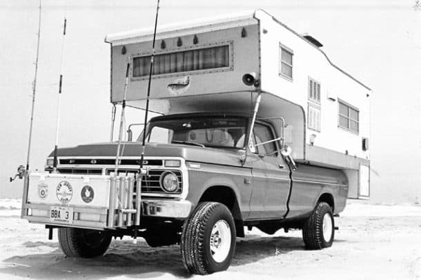 1968 Layton Camper at New Jersey's Island Beach State Park, owned by Bob Lick