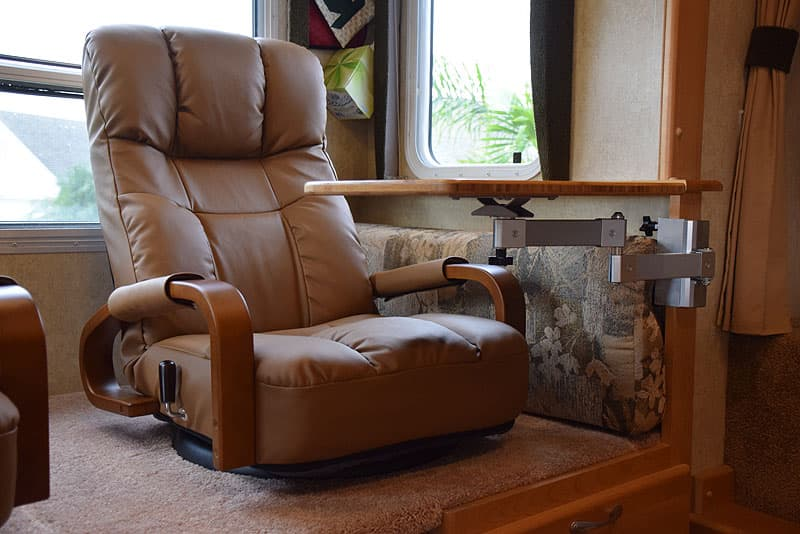Lazyboy recliner and small table