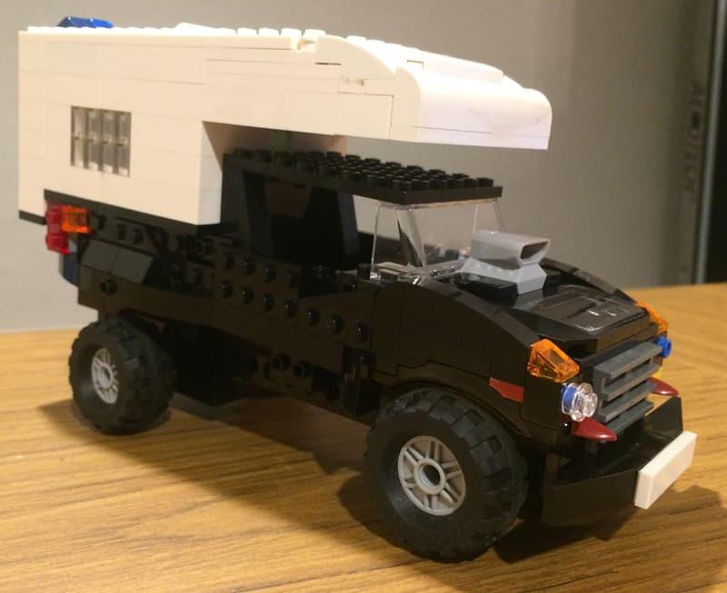 Lego model truck camper