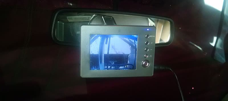 License plate mounted camera truck working