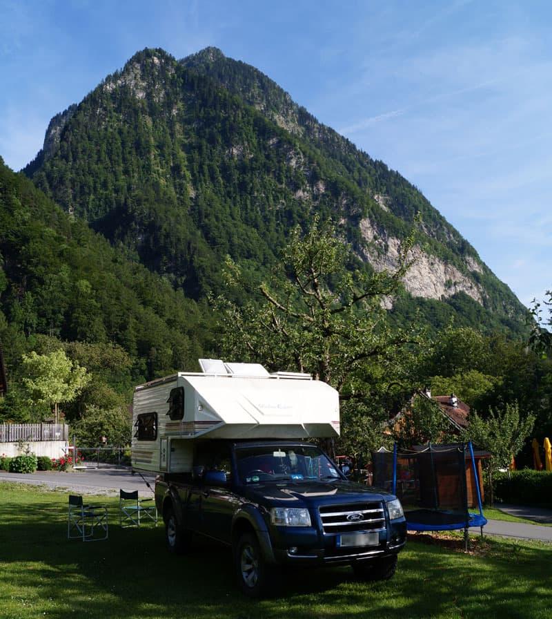 Lichtenstein between Switzerland and Austria