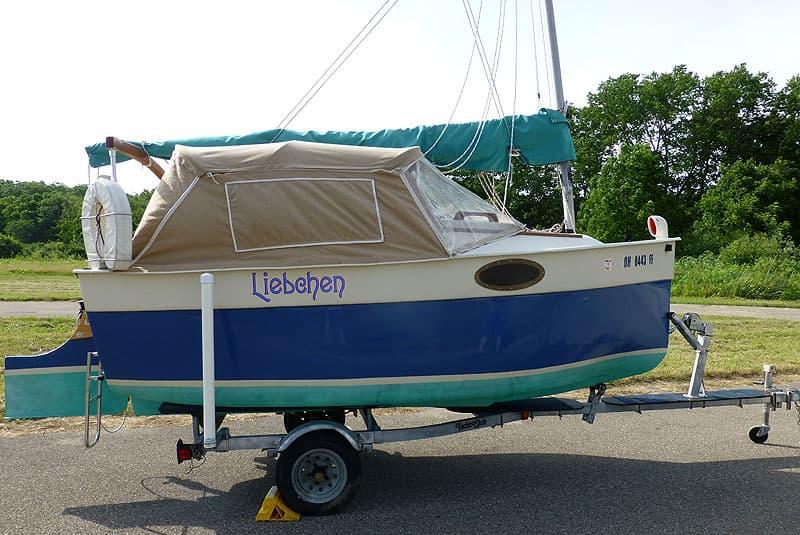Sailboat towed