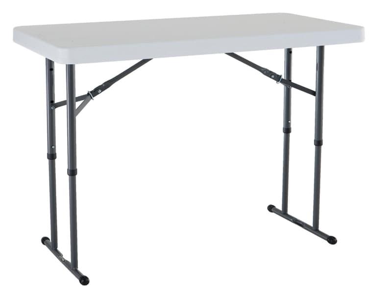 Lifetime 4-foot fold-in-half adjustable table