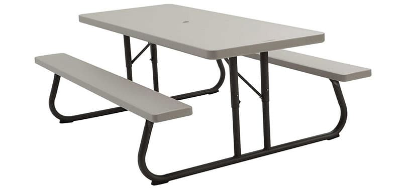 Lifetime bench picnic style table