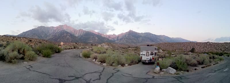 Lone Pine Campground in California