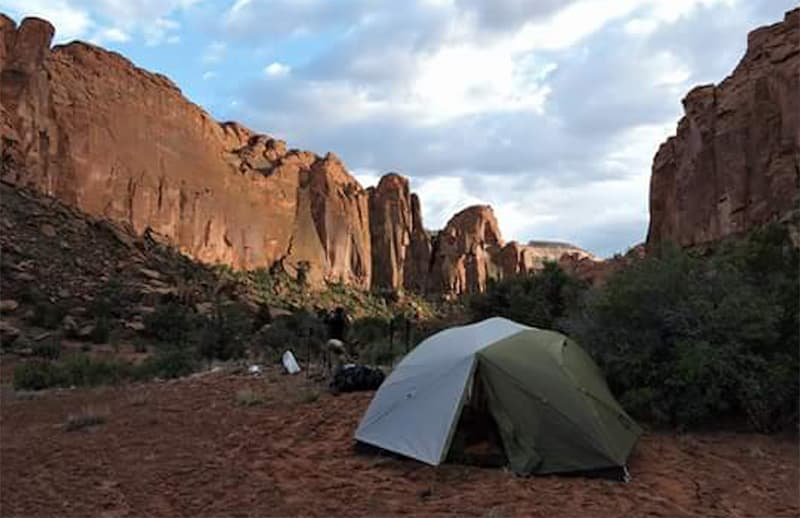 Tenting in the canyon