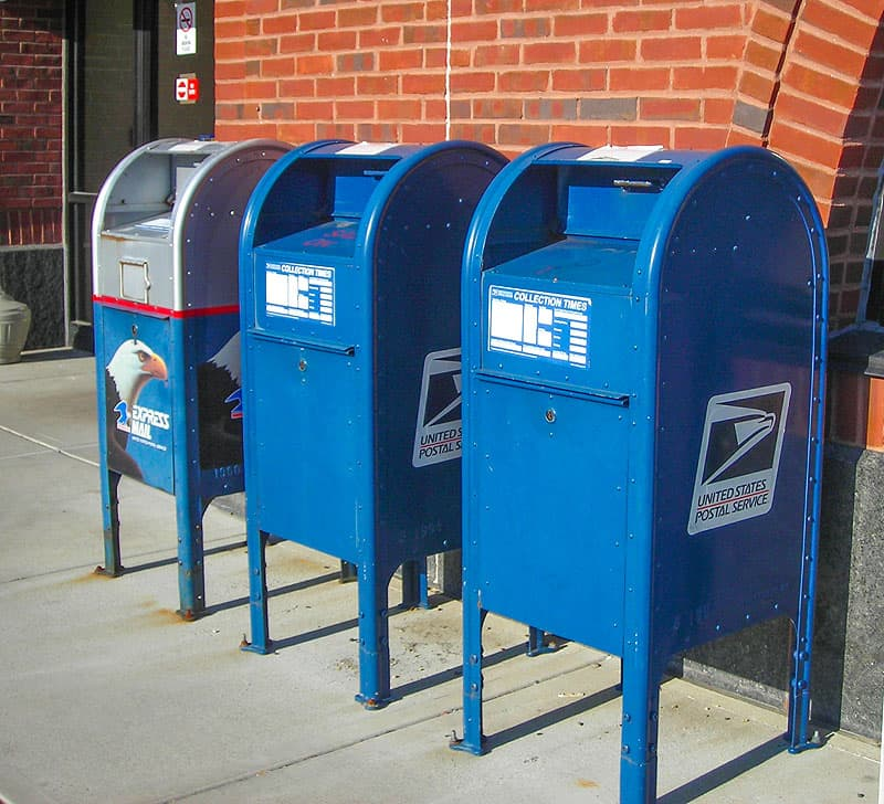 Mail-USPS Drop Off Boxes