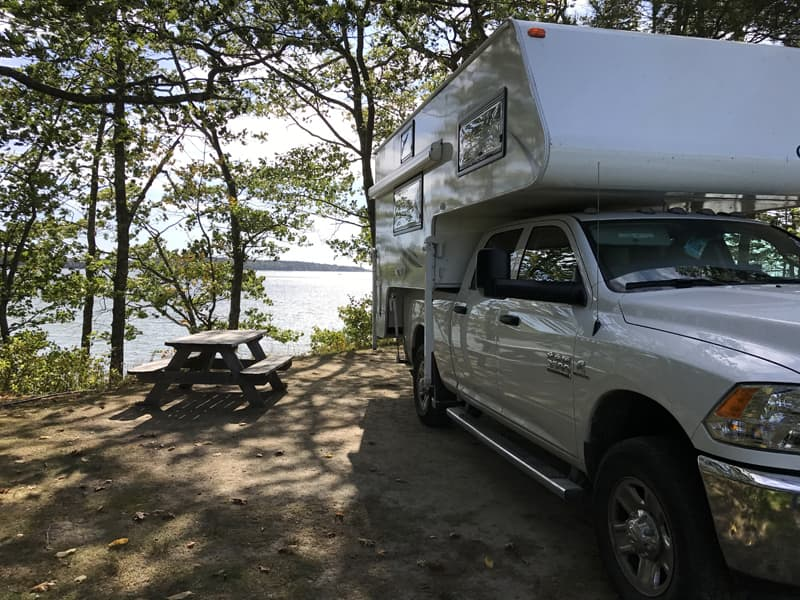 Campsite in Coastal Maine