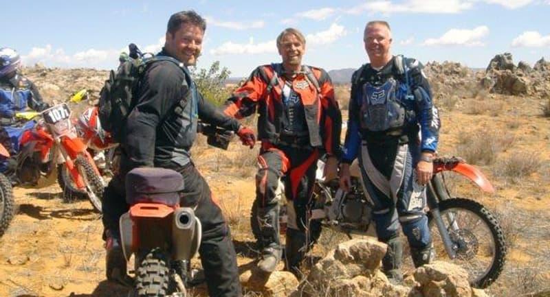 Mark Hellwig trail riding desert