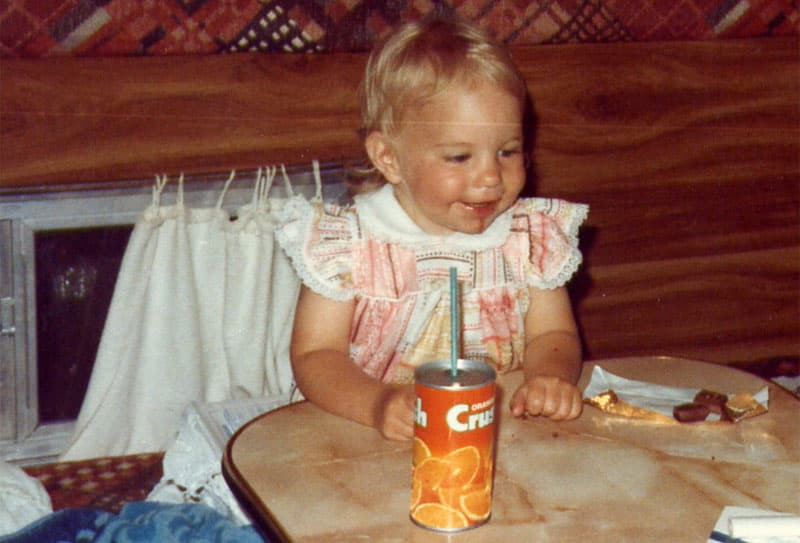 Camping as a kid in 1980 Okanagan Camper