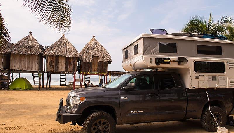 Camping at Zipolite, Mexico