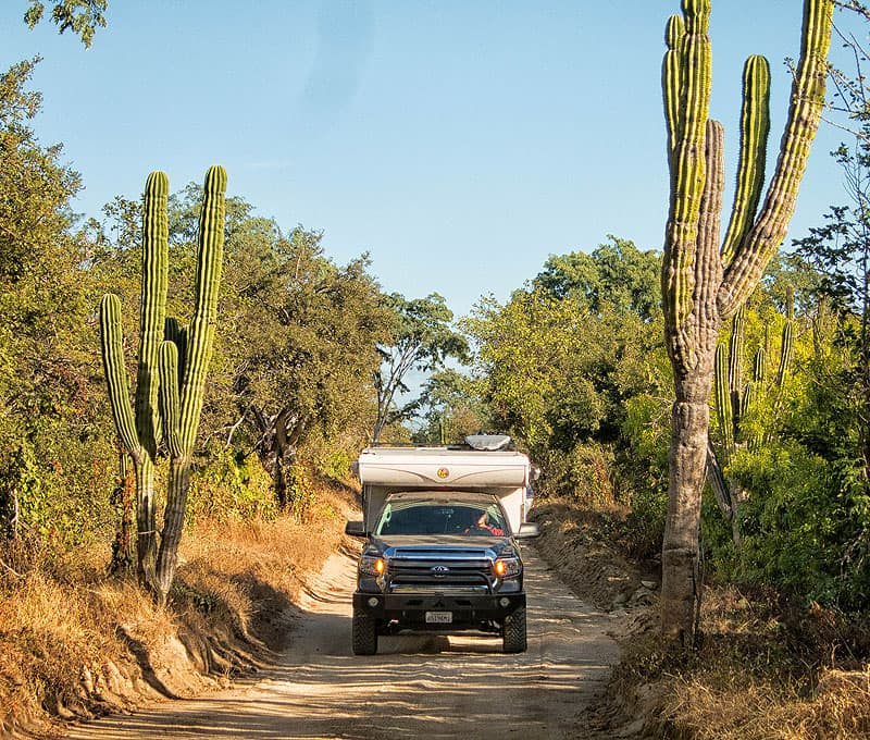 Road to Rancho Sol de Mayo in Mexico