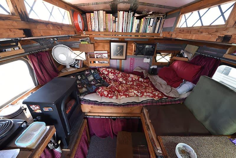Inside camper photo