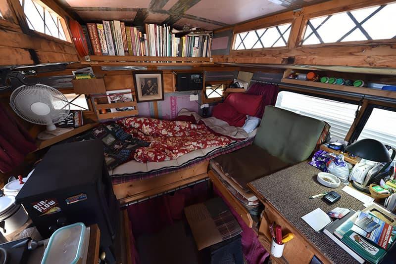 Inside Gypsy truck camper