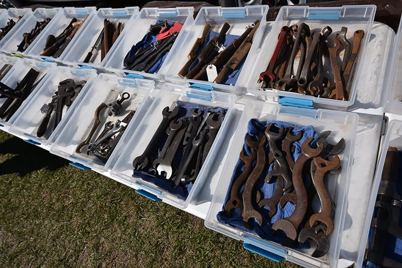 Tools for sale at Florida Flywheelers Antique Show