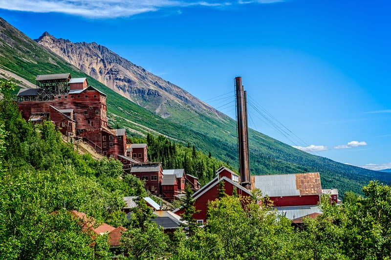 14 story Kennecott mill, Alaska