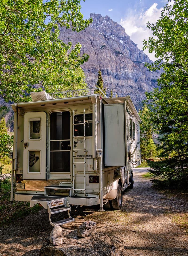 Camping at Yoho National Park in Canada