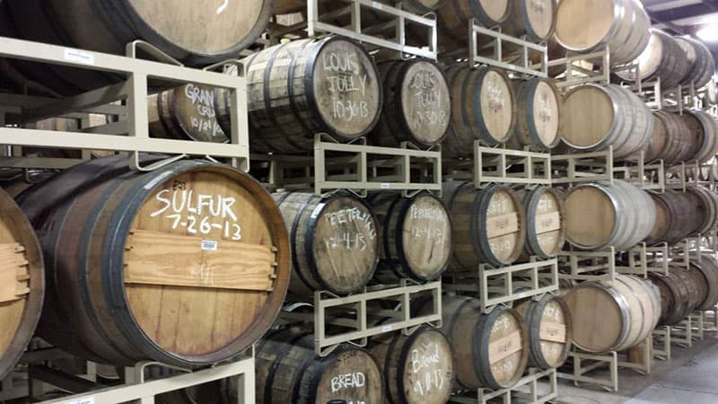 Allagash Maine Brewery barrell room