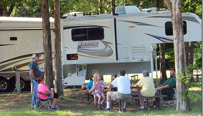 Socializing at the campground