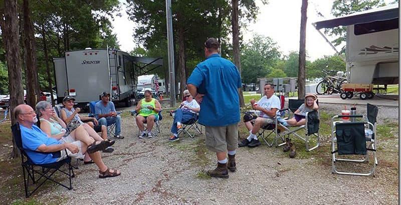 Midwest group in Branson, Missouri campground