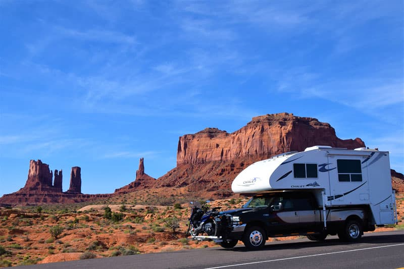 Camper in Monument Valley, Utah