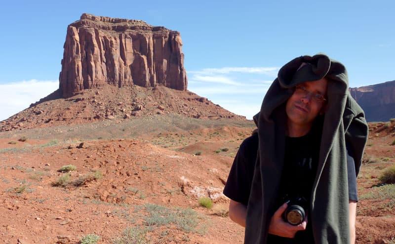 Monument Valley hot desert