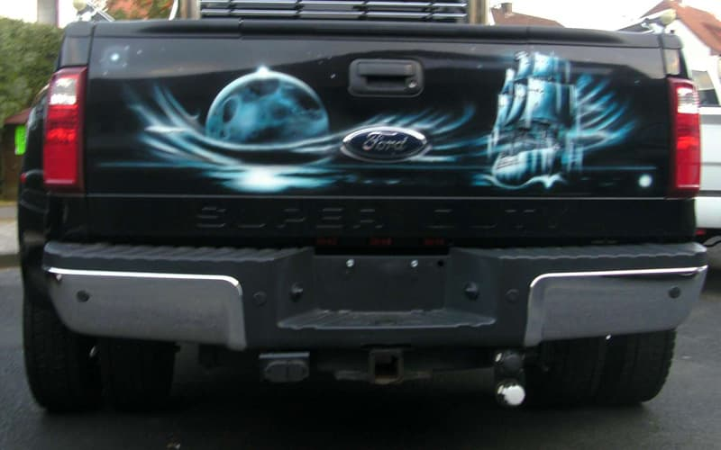 Moon Pirate Ship on tailgate