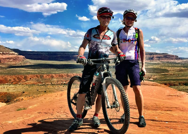 Mountain bikes - Bruce and Barbara