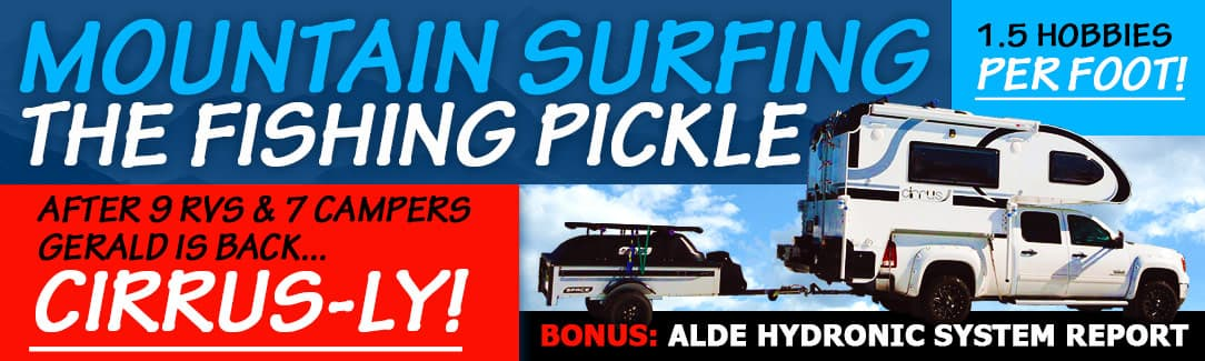 Mountain Surfing the Fishing Pickle