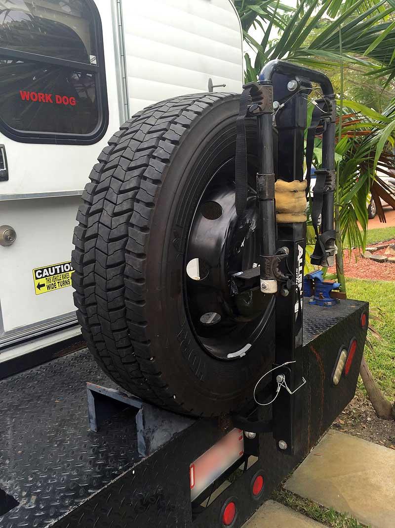 Spare tire storage