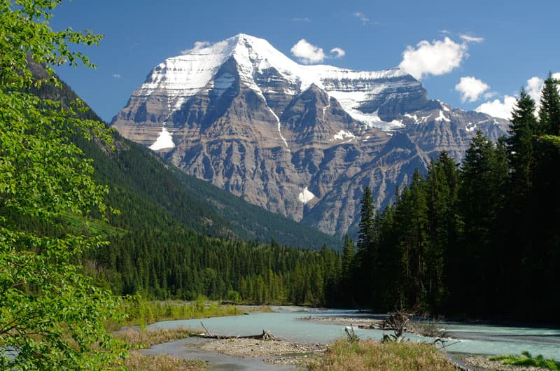 Mt Robson, highest point in the Canadian Rockies