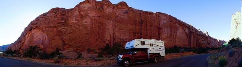 Navajo Sandstone Walls along Burr Trail