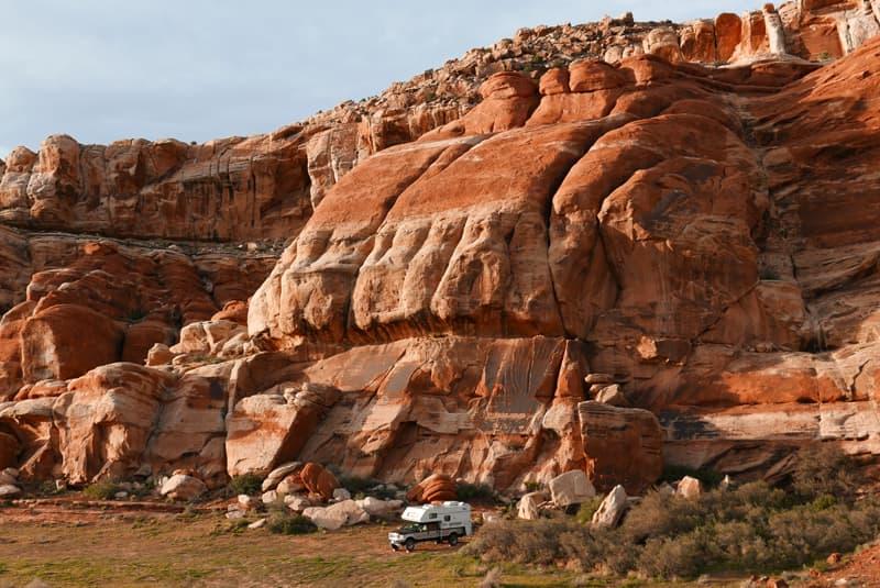 Near Moab Utah cliff wall