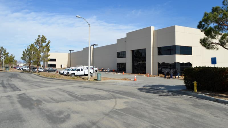 Street view of new Lance Camper building