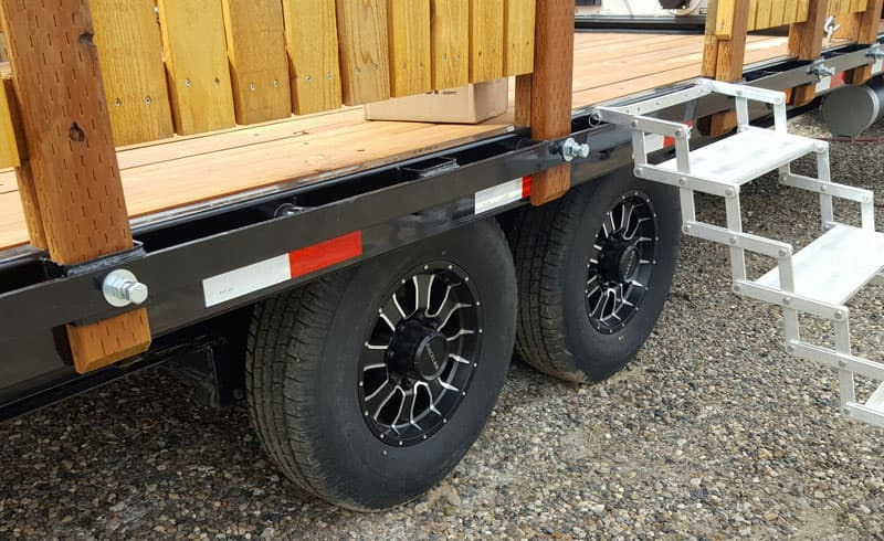 Upgraded Wheels and Tires PJ Gooseneck Trailer