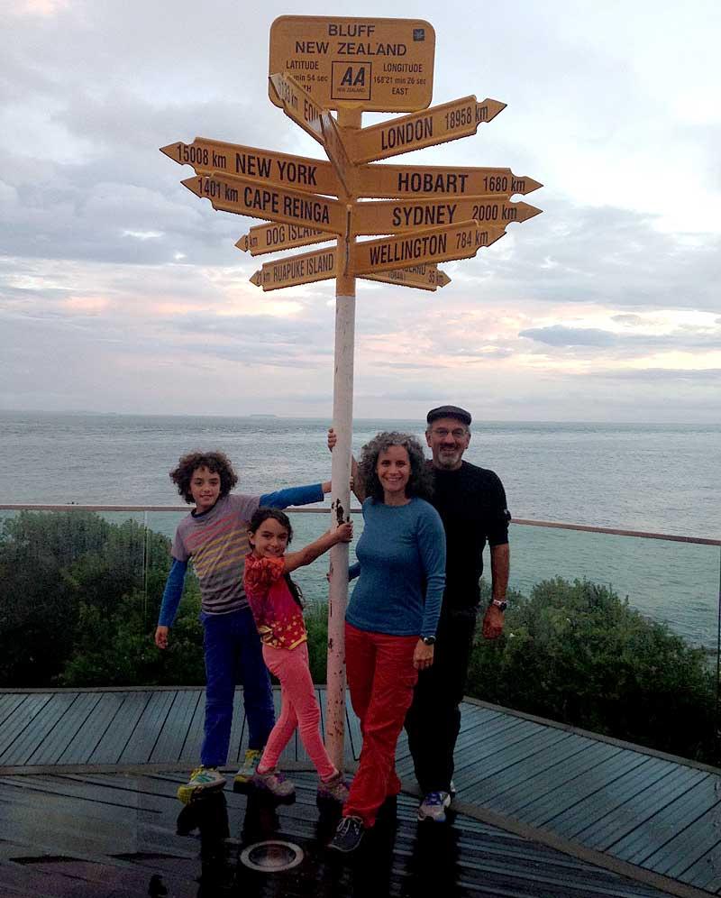 New Zealand sign, road schooling