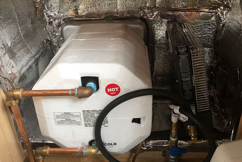 New hot water heater install