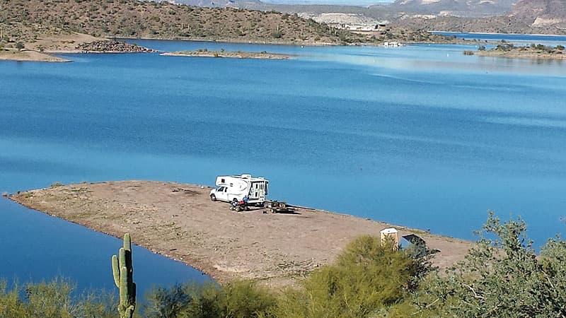 Camping at Lake Pleasant, Arizona