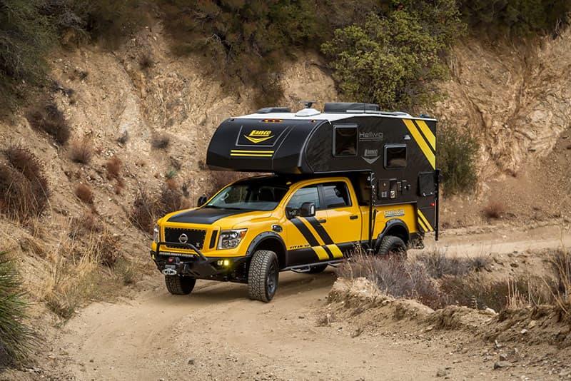 Nissan Titan off-road truck camper