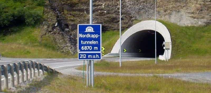 Nordkapp Tunnel 6870 Meters