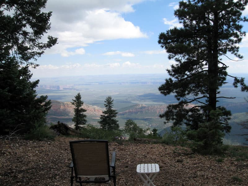 North Rim Grand Canyon campground view