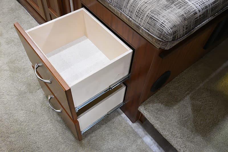Northern Lite dinette drawers for storage
