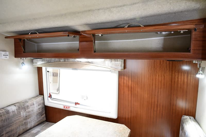 Northern Lite 10-2 storage cabinets over dinette