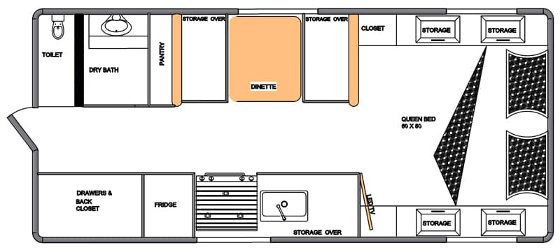 Northern Lite 10-2 EX Dry Bath floor plan