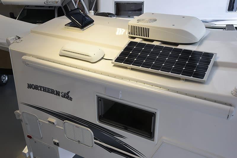 Solar panel on Northern Lite 10-2 EX