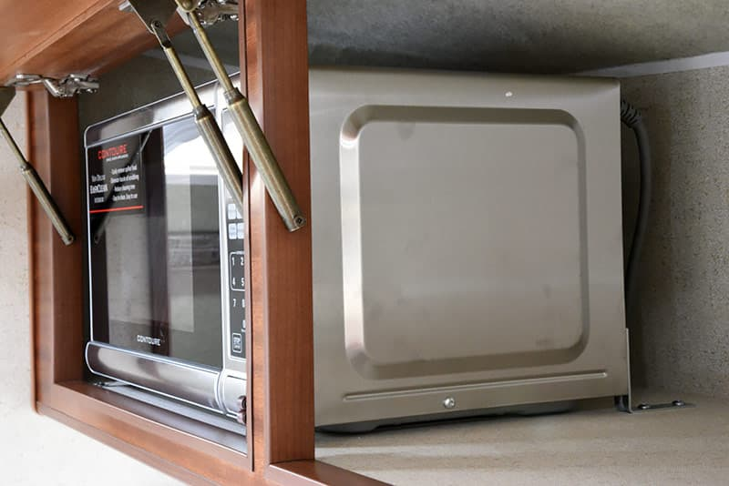 stainless steel Contoure microwave