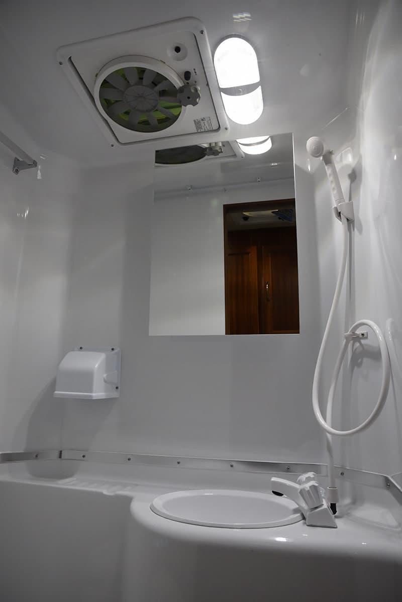 Northern Lite 10-2 EX wet bath sink in corner