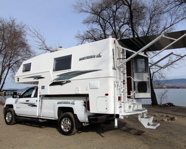 Northern Lite camper with bumper