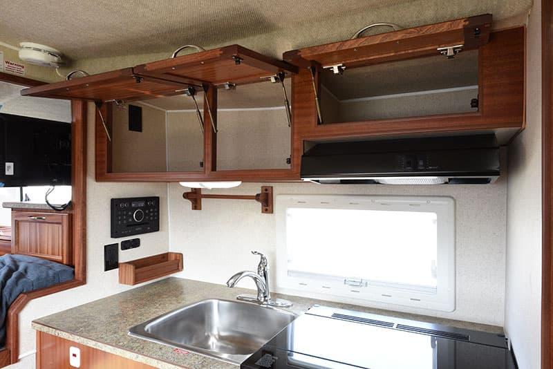 Northern Lite 8-11 EX kitchen upper cabintry open